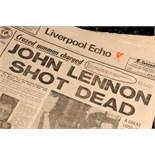 Lot 20 - The Beatles: Liverpool Echo 'John Lennon Shot Dead', 1980.