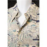 Lot 12 - Elvis Presley: previously personally owned and worn patterned shirt, Monzini knit by Monticello,