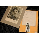 Lot 71 - Silver screen: Gracie Fields autographed headshot, signed in blue fountain pen to lower left