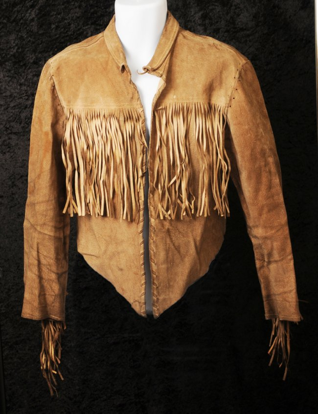 The Beatles / Paul McCartney: worn and owned brown fringed leather jacket. - Image 2 of 2