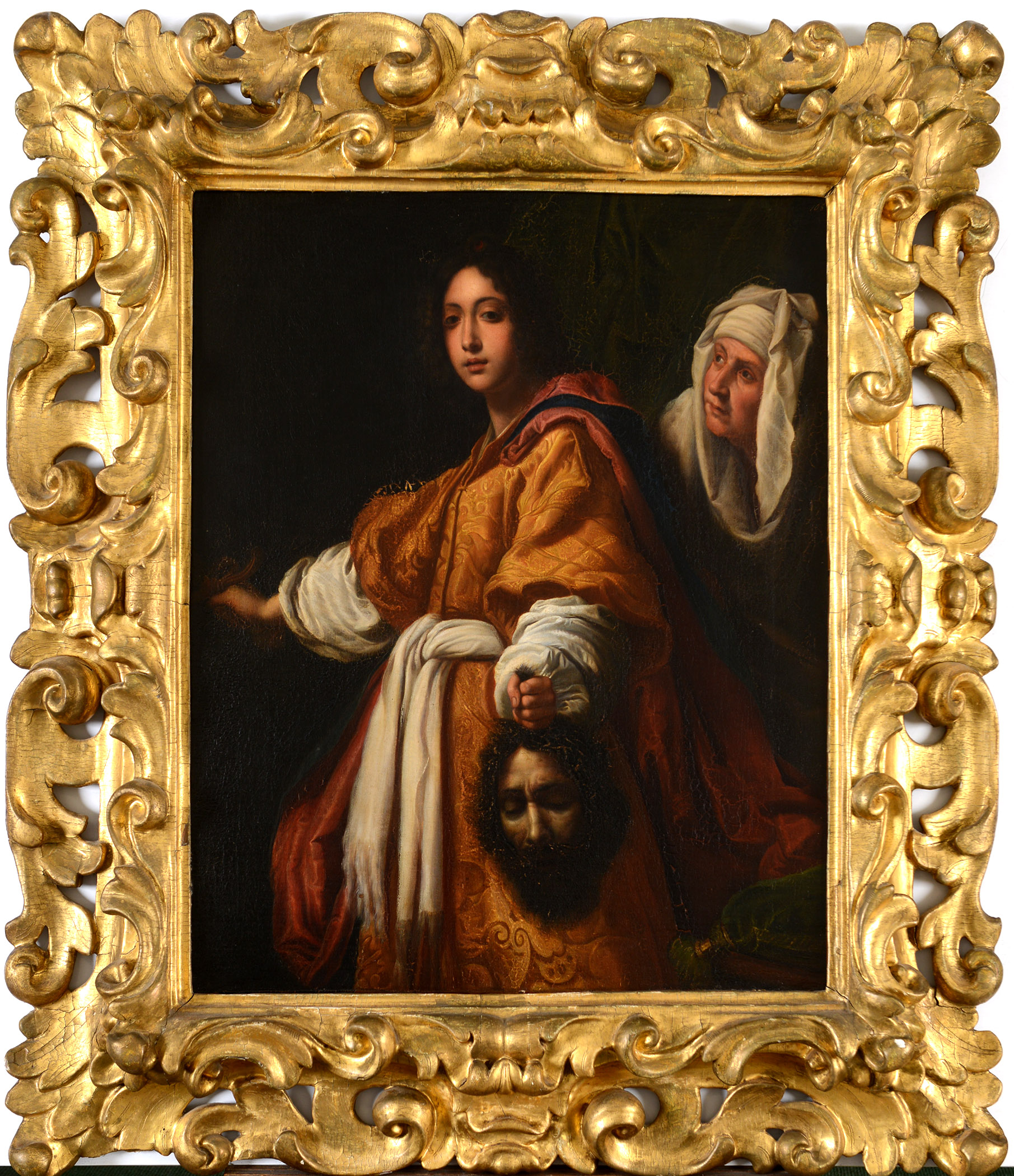 Lot 1272 - AFTER CRISTOFANO ALLORI (1577-1621) JUDITH HOLDING THE HEAD OF HOLOFERNES Oil on canvas 66 x 53cm. *