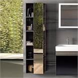 (UR6) Keramag 1600mm Citterio Tall Shelf Storage Cabinet with Mirror. RRP £911.99. Grey/Brown...
