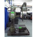 """KAO MING KMR-980 4' RADIAL ARM DRILL WITH 43.5"""" COLUMN, SPEEDS TO 1524 RPM, S/N: 1370 (CI)"""