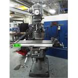 """BRIDGEPORT VERTICAL MILLING MACHINE WITH 42"""" X 9"""" TABLE, SPEEDS TO 4200 RPM, 1.5 HP, ACU-RITE 2 AXIS"""