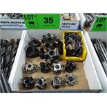 LOT/ CARBIDE INSERT FACE MILLS & CUTTERS WITH CARBIDE INSERTS