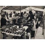 Wilfred R...E... Fairclough (1907-1996) British. A Market Scene, with Figures, Etching, Signed and