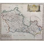 "Robert Morden (c.1650-1703) British. ""Bark Shire"", Map, 14"" x 15.5""."