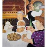"""Beryl Cook (1926-2008) British. """"Dining in Paris"""", Lithograph, Signed and Numbered 298/650 in"""