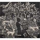 """Katharine M... Clayton (19th - 20th Century) British, """"Orpheus"""", Etching, Signed, Inscribed and"""