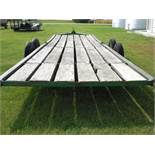 28' Donahue sliding bed machinery trailer.