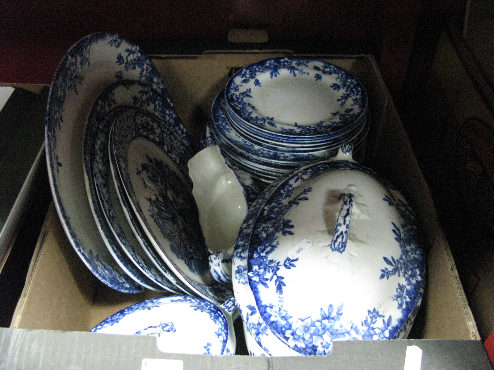 Lot 1027 - Blue and White Tableware, including 'Ruby' tureens.