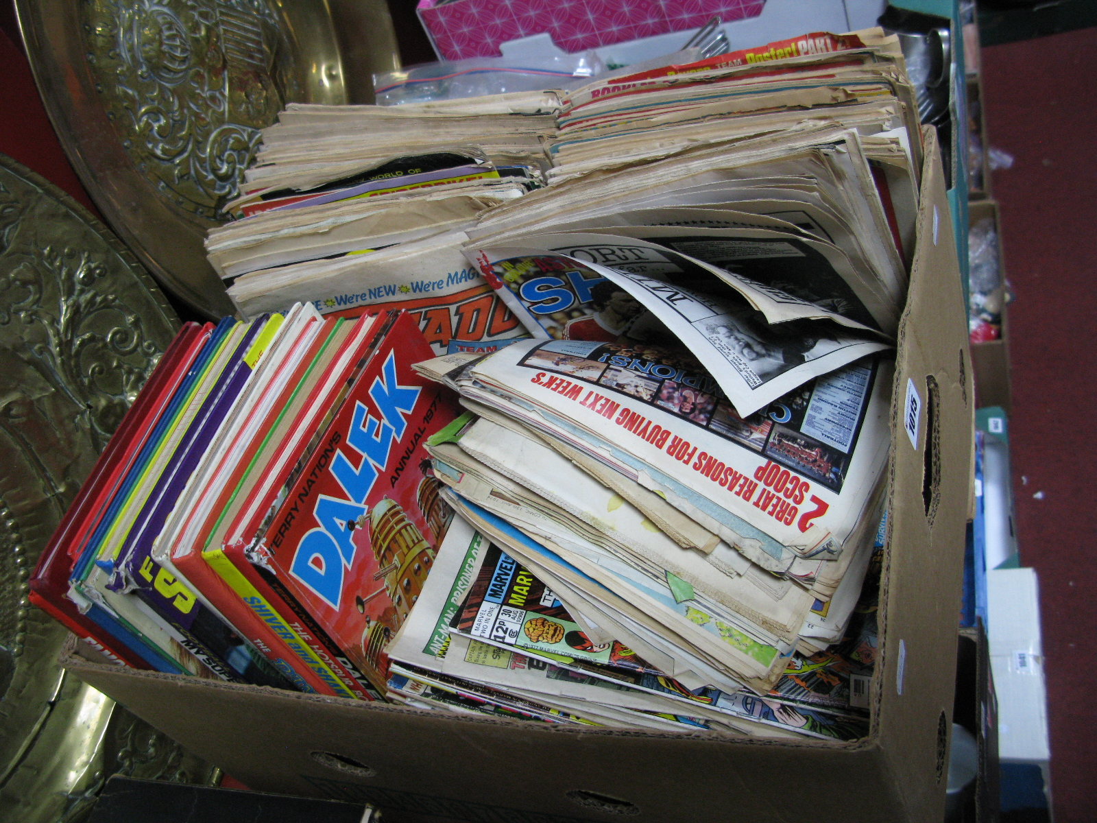 Lot 1015 - A Quantity of 1960's and Later Comics, Annuals and Weekly Sports Periodicals, Marvel's Son of Satan,