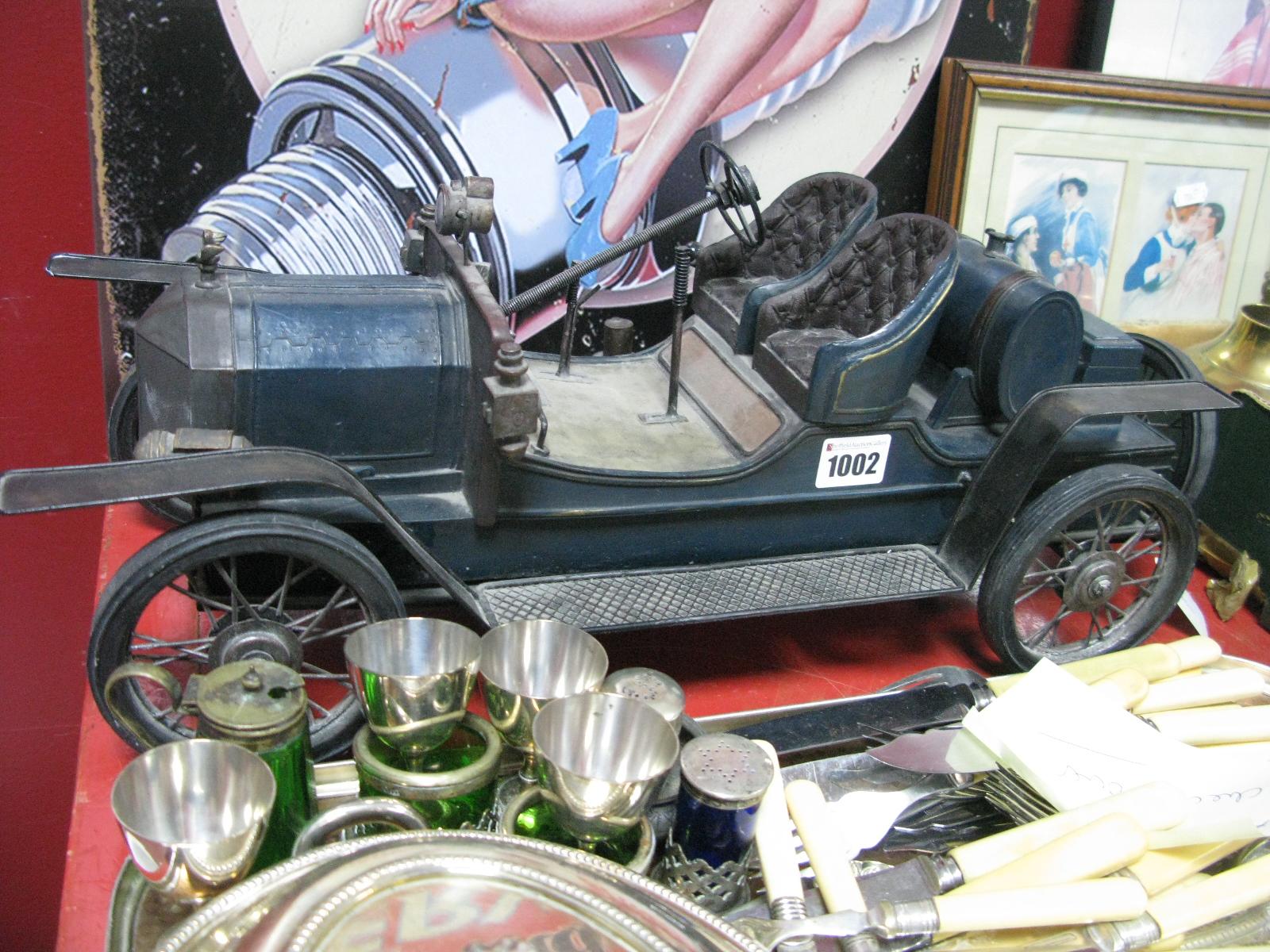 Lot 1002 - A Late XX Century Model Vintage Car, length 52cm.