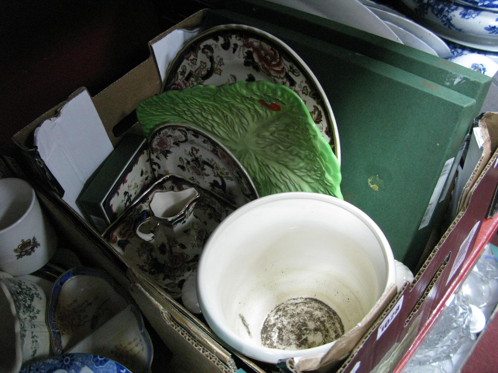 Lot 1028 - Masons Mandalay Plate, jardiniere, bowl, coaster, place mats, etc:- One Box