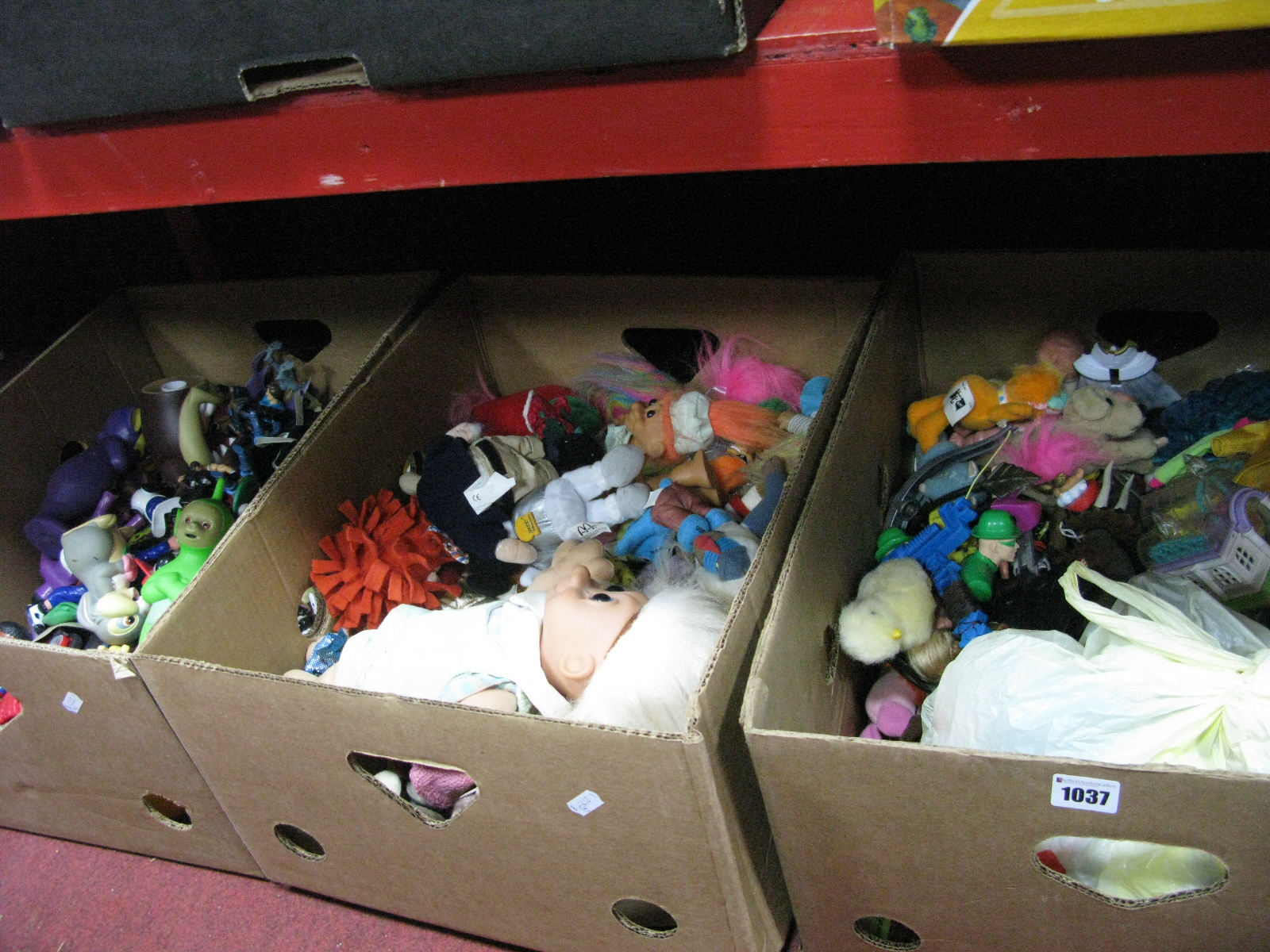 Lot 1037 - McDonald's Happy Meal Toys, Tellytubbies, etc:- Three Boxes