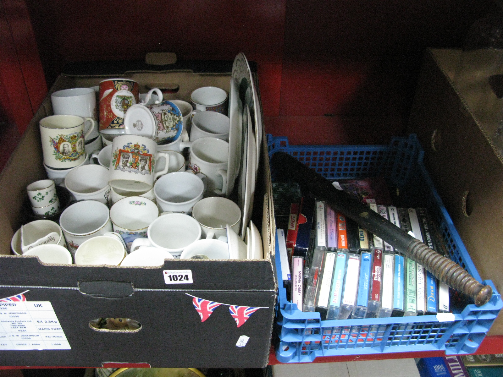 Lot 1024 - Commemorative Jugs, to include Doulton 1911 Coronation, Worcester 2002 Jubilee, other ceramics,
