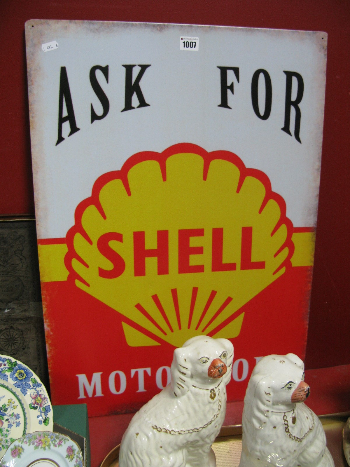 Lot 1007 - Ask For Shell Motor Oil Metal Wall Sign.