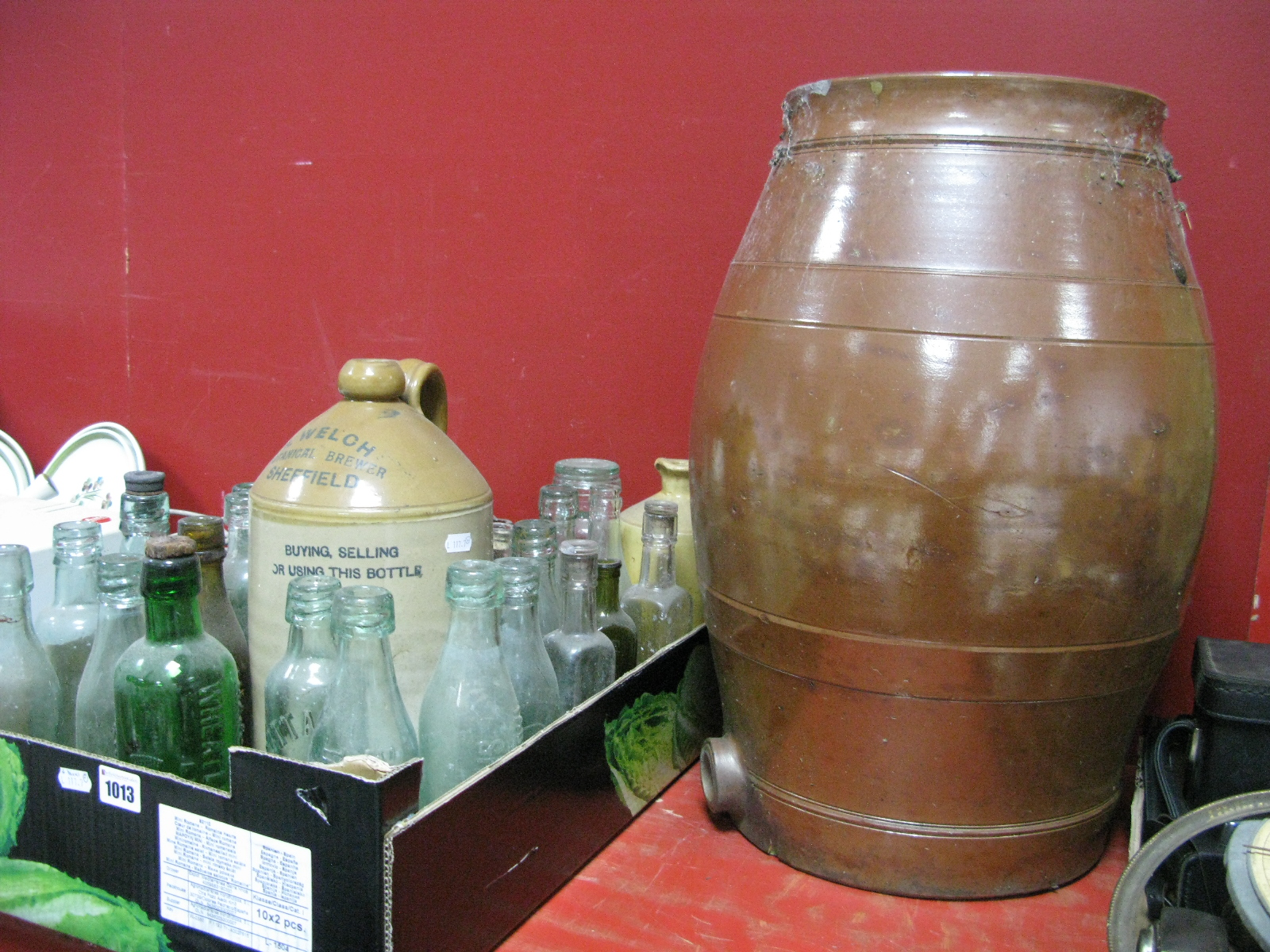Lot 1013 - A Quantity of Vintage Beer, Table Water and Chemists Bottles and Jars, HP and Daddies sauce included