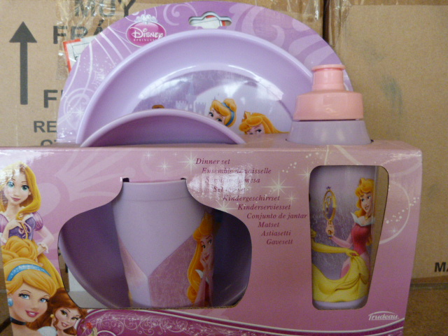 Lot 55 - *Box of 12 Disney Princess Four Piece Dinner Sets