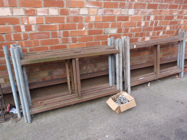 Lot 26 - Twelve Sections of Tower Scaffolding with Clips