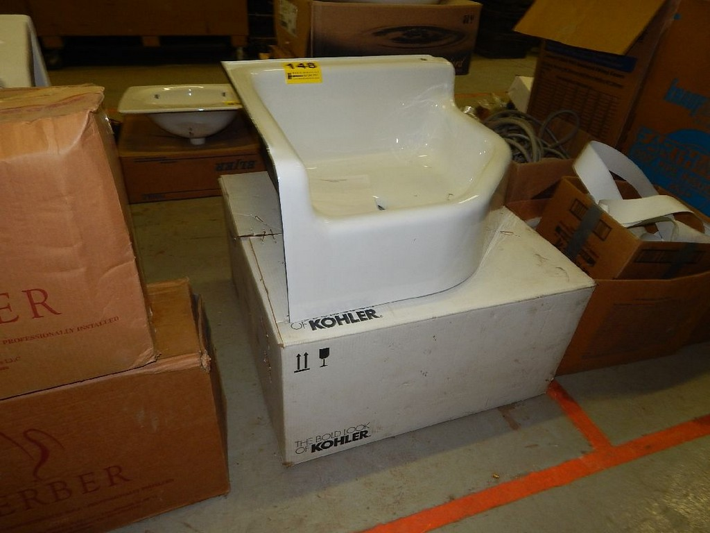 Corner Utility Sink : KOHLER MODEL 6710-0 CAST IRON CORNER UTILITY SINK