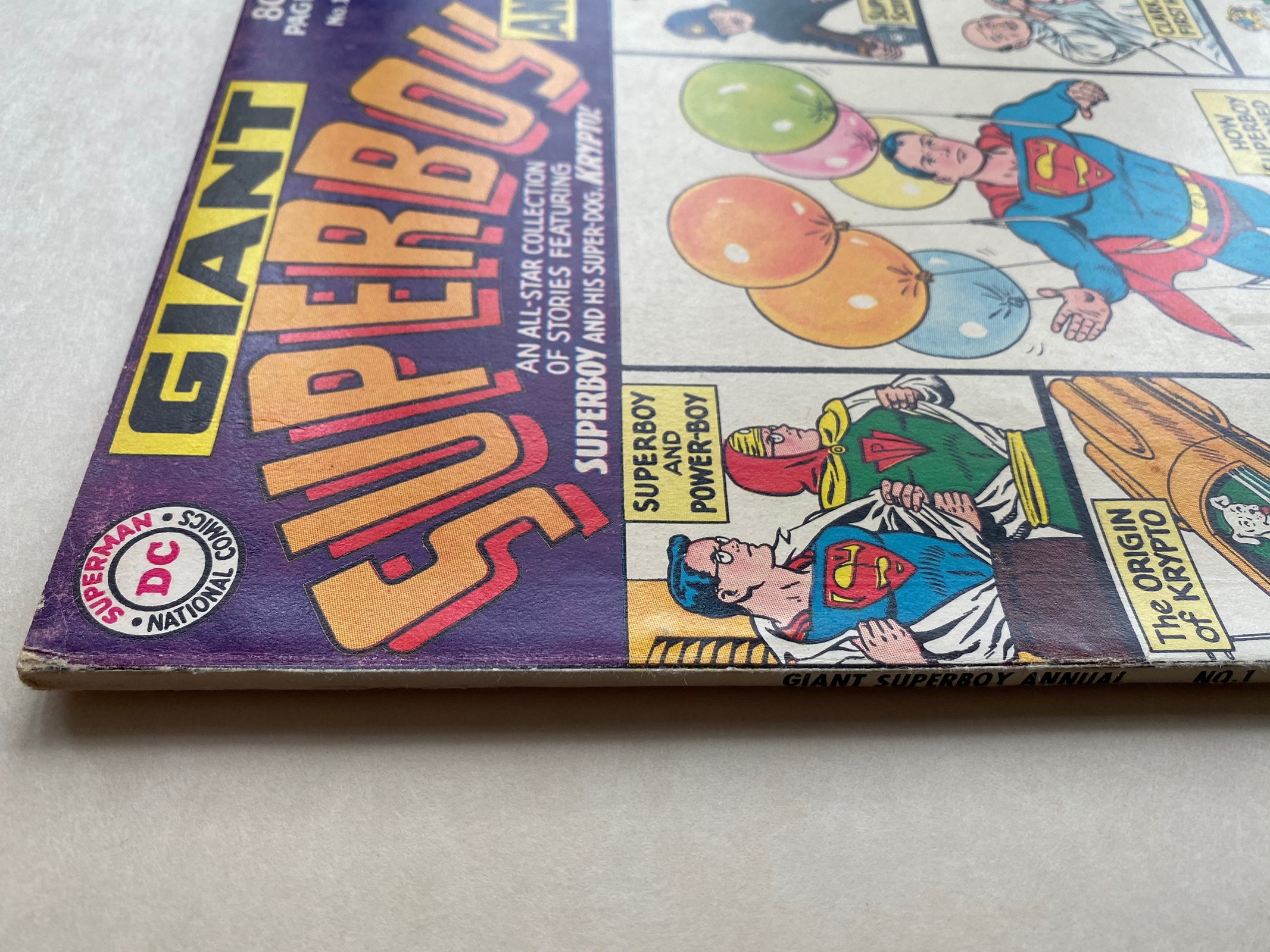 Lot 2400 - SUPERBOY: GIANT ANNUAL #1 - (1964 - DC - Cents Copy - VG/FN) - Curt Swan cover - Flat/Unfolded -
