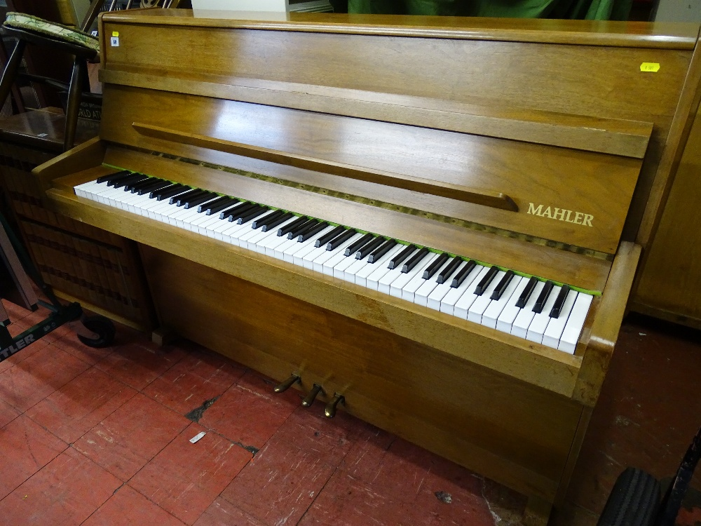 Lot 88 - Modern Swedish Mahler upright piano