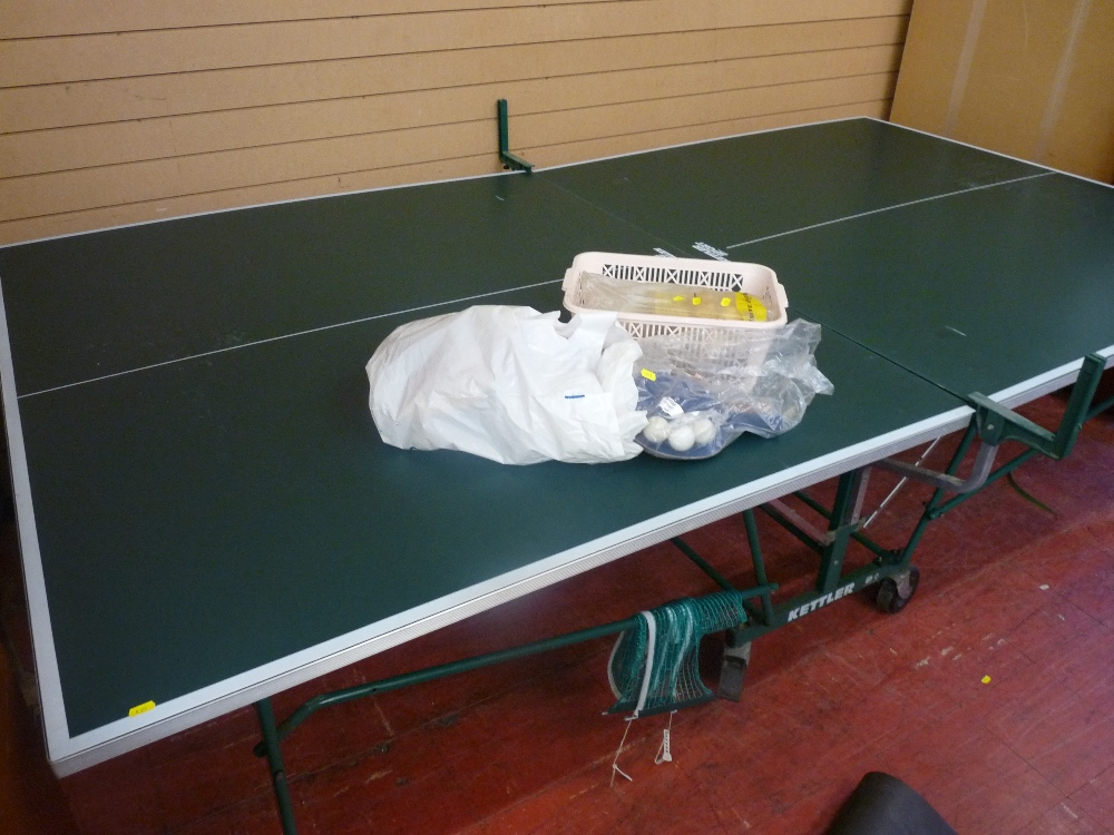 Lot 8 - Kettler portable folding tabletennis table and accessories