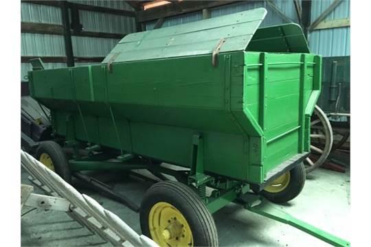 John Deere Wooden Flair Side Wagon W Jd 953 Running Gear
