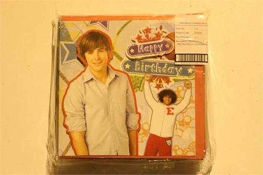 5 X Boxes Of High School Musical Birthday Cards Please Note That