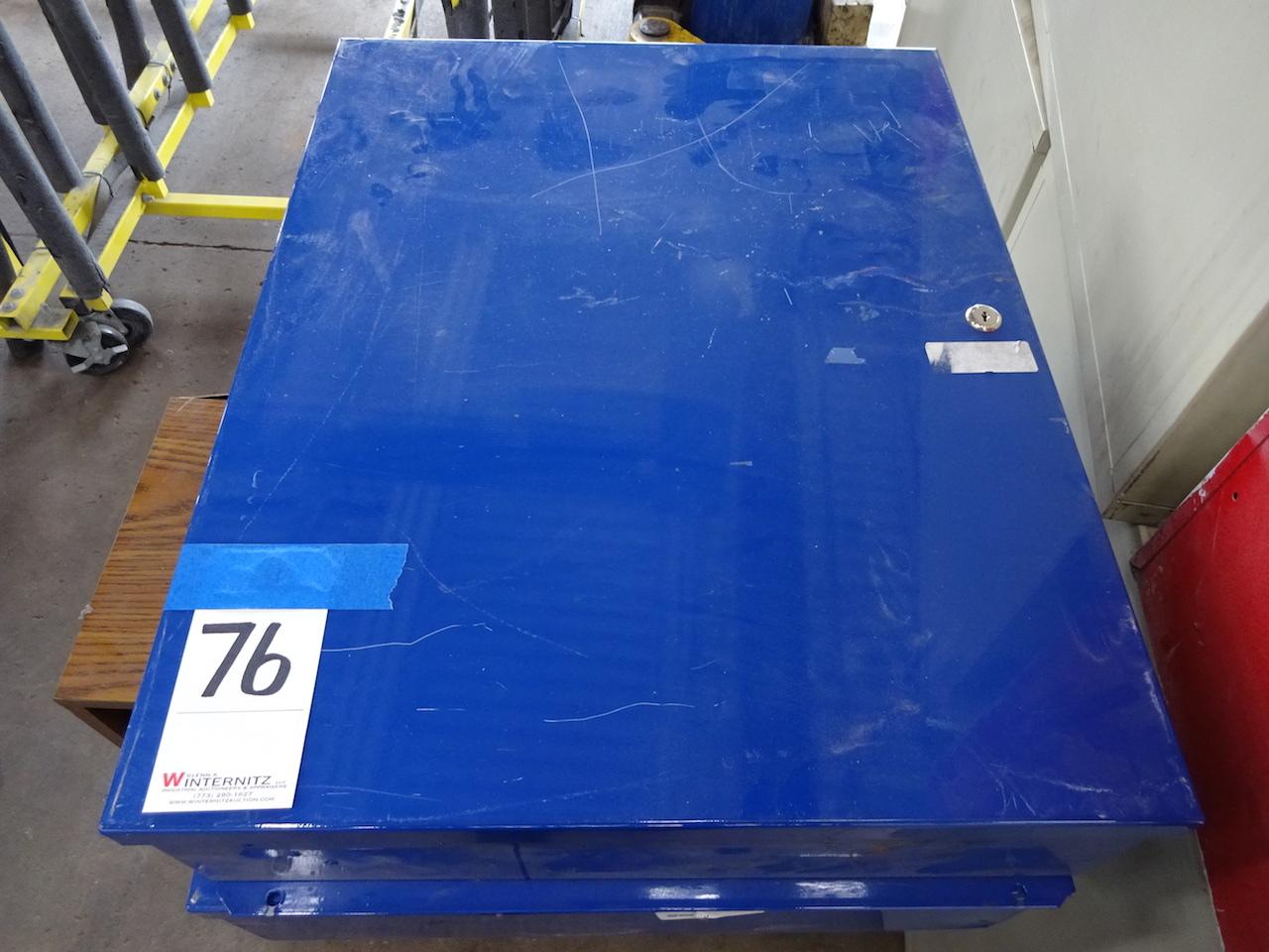 Lot 76 - LOT (2) BLUE KEY STORAGE CABINETS