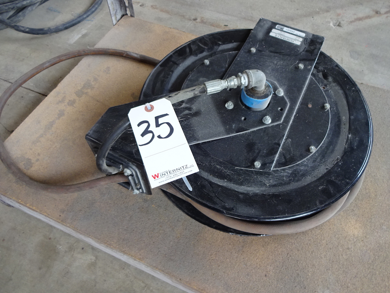 Lot 35 - HOSETRACT UNITRACT MODEL UTL-350 HOSE REEL S/N 248257