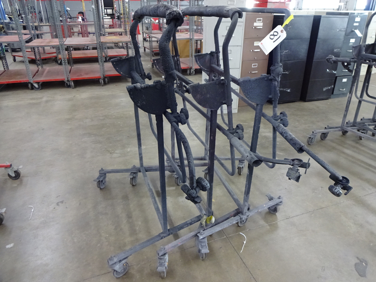 Lot 81 - LOT (3) BODY PANEL STANDS