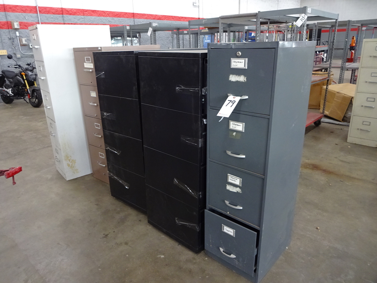 Lot 79 - LOT: (5) ASSORTED FILE CABINETS