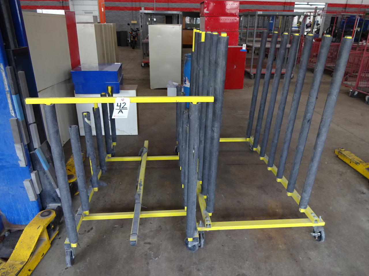 Lot 42A - LOT: (2) VERTICAL BODY PANEL STANDS