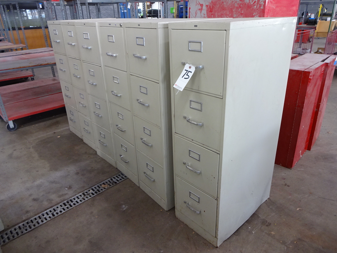 Lot 75 - LOT (6) 4-DRAWER FILE CABINETS