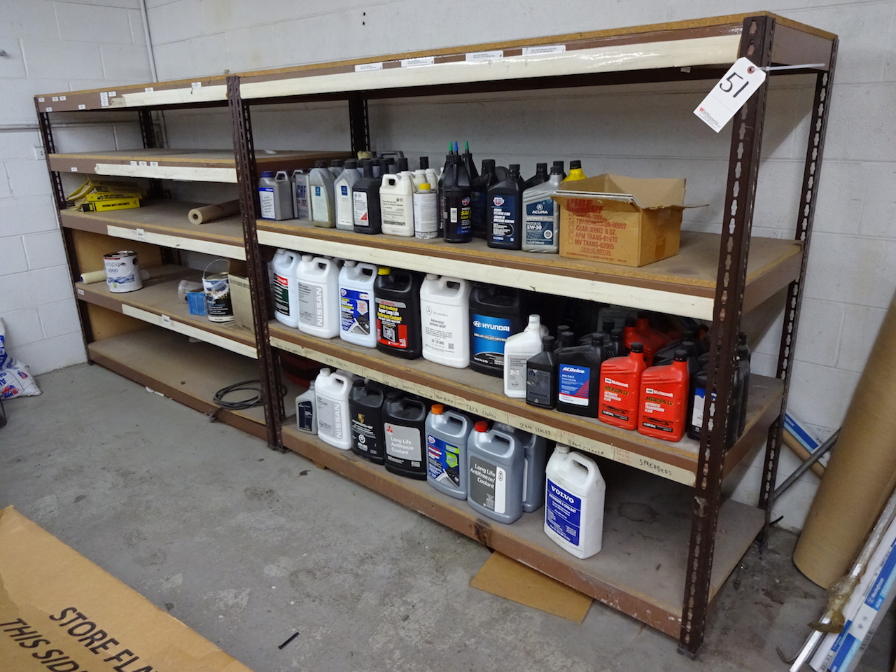 Lot 51 - LOT: (2) SECTIONS HEAVY DUTY STEEL SHELVING
