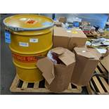 50 GALLON SALVAGE DRUM WITH DRUM LINERS (NEW)