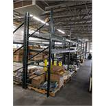 "SECTIONS ADJUSTABLE BEAM PALLET RACK, 44"" DEEP X 92"" WIDE X 10' TALL, WITH WIRE DECKING ** DELAYED"