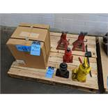 (LOT) (4) HYDRAULIC BOTTLE JACKS AND (2) JACK STANDS