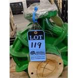 15 H.P. BUFFALO PUMPS CENTRIFUGAL BRINE PUMP, 130 GPM, 460 VOLTS, 1750 RPM ** NEVER PUT IN