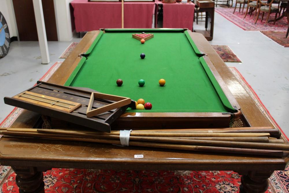 Edwardian oak metamorphic dining snooker table the  : original from www.the-saleroom.com size 1000 x 667 jpeg 176kB