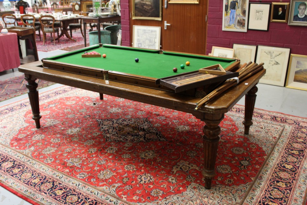 Edwardian oak metamorphic dining snooker table the  : original from www.the-saleroom.com size 1000 x 667 jpeg 248kB
