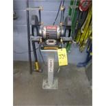 """Ryobi 6"""" double-end bench grinder, c/w Canbuilt pedestal stand, model BGH616, ser. no. LM271321"""
