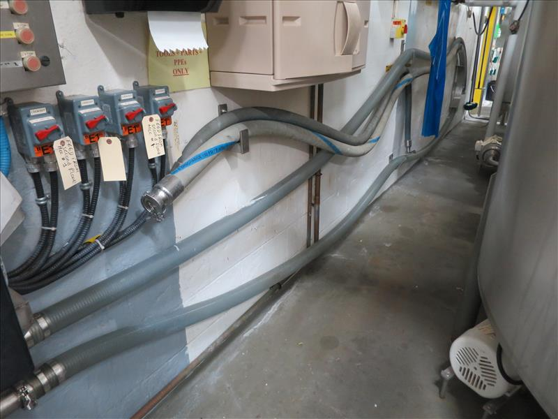 Flexible Hose, (located on wall adjacent to Mix Tanks 1 & 2)