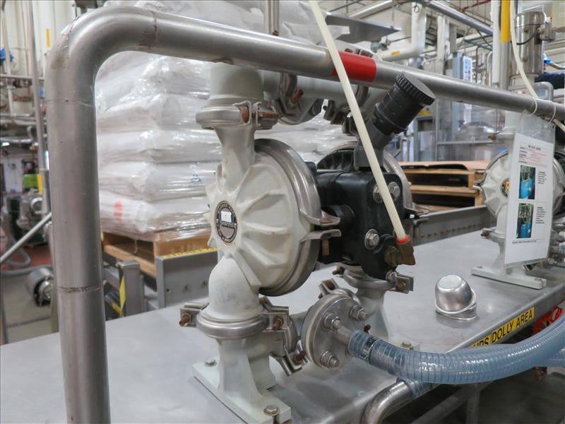 flavour pumping system, including (6) Sandpiper air-operated double diaphragm pumps, S/S pump stand, - Image 2 of 7