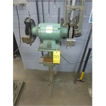 """Jet 10"""" double-end bench grinder, c/w pedestal stand, model BG-10, ser. no. 240105"""