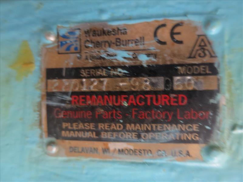 Lot 250 - Waukesha CB Positive Pump, model 60, s/n 220127-98