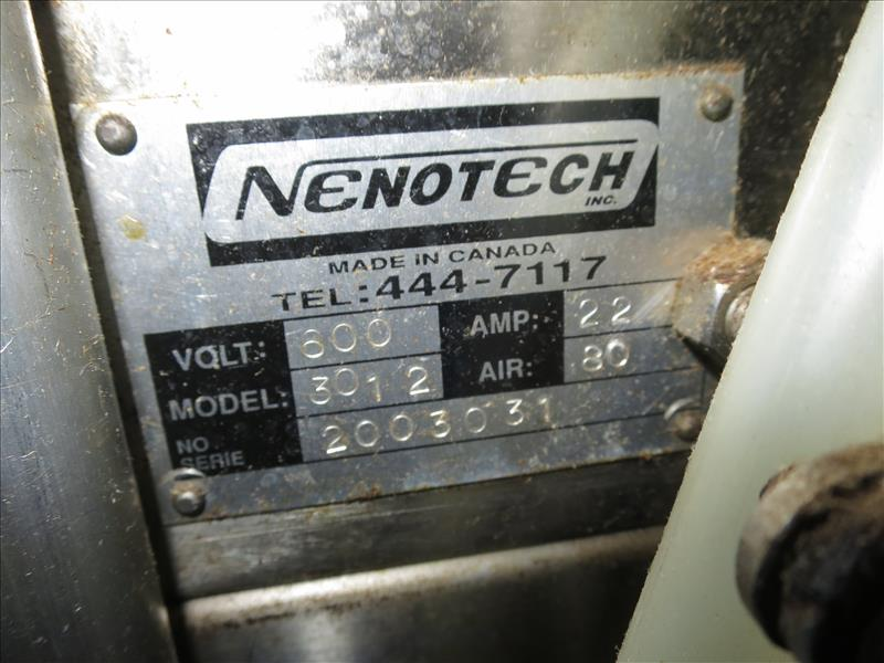 Nenotech Inc. S/S 12-can variety pack shrink wrapper bundler, model 3012, ser. no. 2003031, 330 - Image 3 of 5