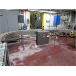 Advantage Conveyor Inc. 180 degree curve segment extending between tray packer and overwrapper,